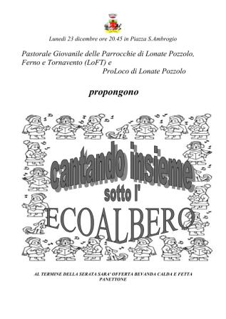 Cantando insieme sotto l'Ecoalbero
