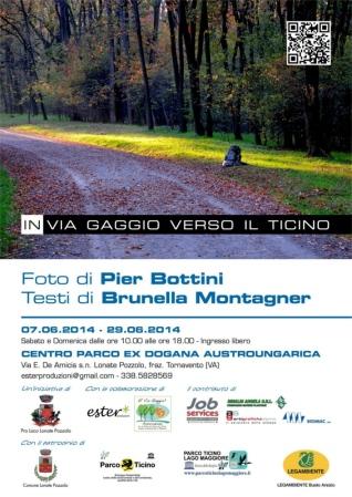 In via Gaggio verso il Ticino