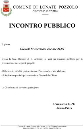 Incontro pubblico a Sant'Antonino