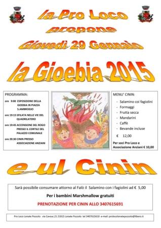 La Giöbia e ul Cinín