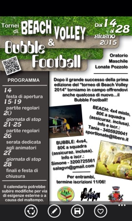 Tornei di Beach Volley e Bubble Football