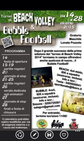 Tornei di Beach Volley e Bubble Football