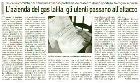 La Prealpina del 26 marzo 2011