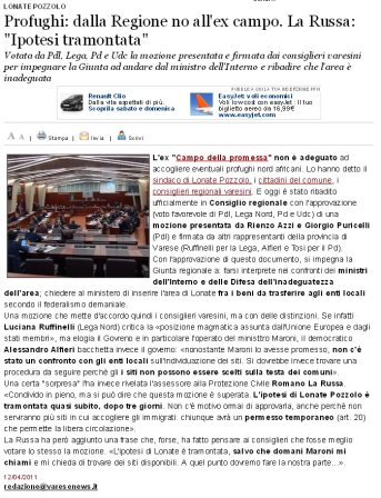 Varesenews del 12 aprile 2011