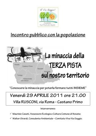 Serata Castano Primo 29 aprile 2011