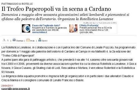 Varesenews del 29 aprile 2011