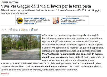Varesenews del 30 aprile 2011