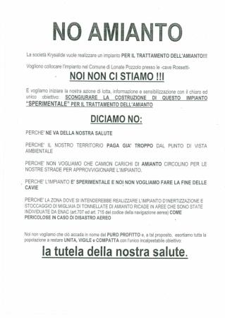 Volantino No amianto (anonimo)
