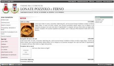 Sito Unione - screenshot del 27 maggio 2011
