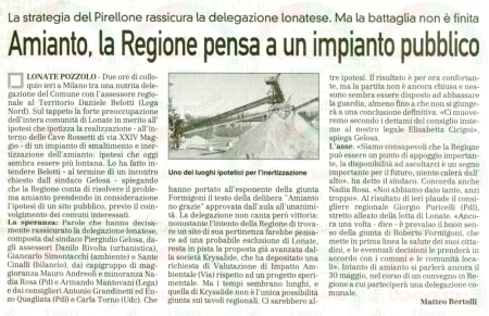 La Prealpina del 5 maggio 2011