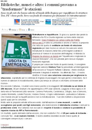 Varesenews del 17 maggio 2011