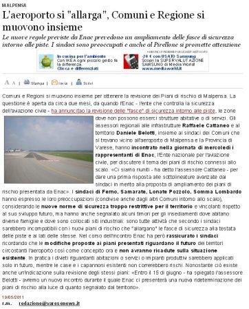 Varesenews del 19 maggio 2011