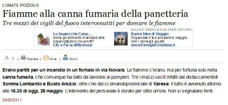 Varesenews del 26 maggio 2011