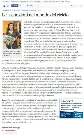 Il Corriere del 27 maggio 2011