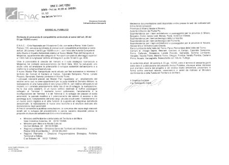 Lettera ENAC