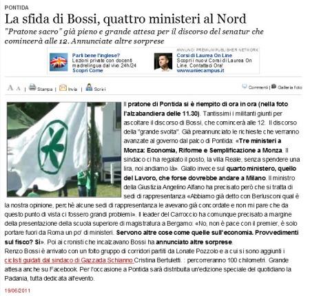 Varesenews del 19 giugno 2011