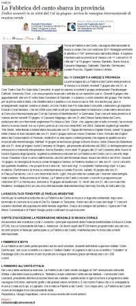 Varesenews del 6 giugno 2011