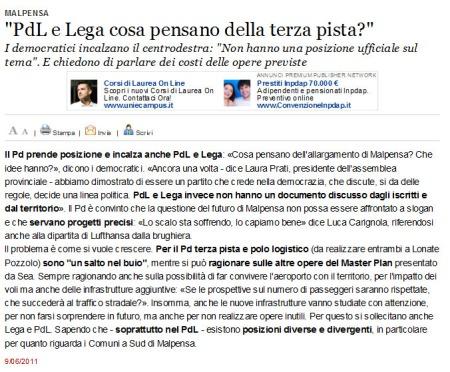 Varesenews del 9 giugno 2011
