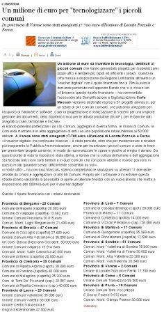 Varesenews del 10 giugno 2011