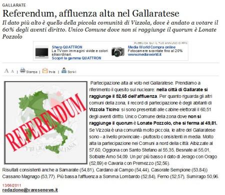 Varesenews del 13 giugno 2011