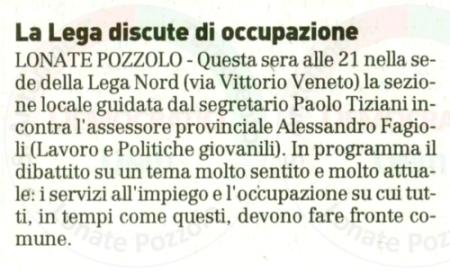 La Prealpina del 14 giugno 2011