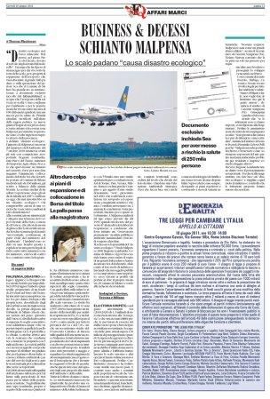 Il Fatto Quotidiano del 16 giugno 2011