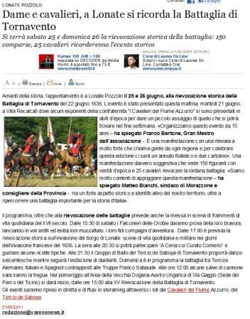 Varesenews del 21 giugno 2011