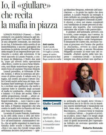 Il Corriere della Sera del 30 giugno 2011