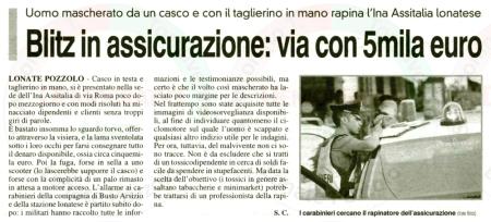 La Prealpina del 30 giugno 2011