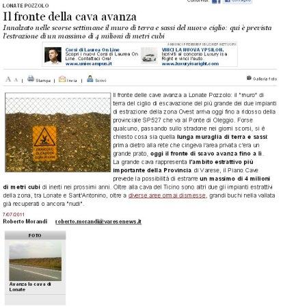 Varesenews del 7 luglio 2011