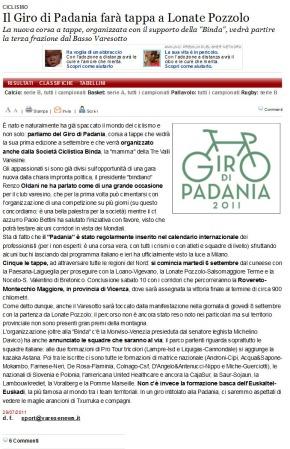 Varesenews del 29 luglio 2011