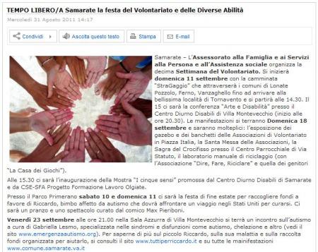 AsseSempione.info del 31 agosto 2011