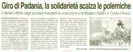 La Prealpina del 31 agosto 2011
