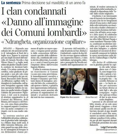 Corriere della Sera del 14 settembre 2011 - pag 27