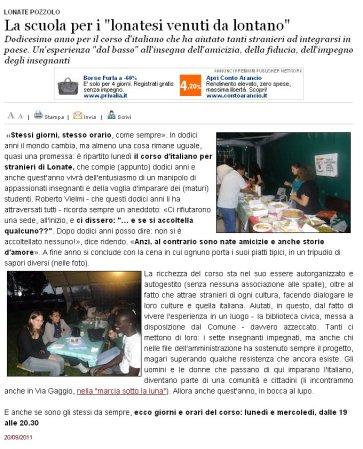 Varesenews del 20 settembre 2011