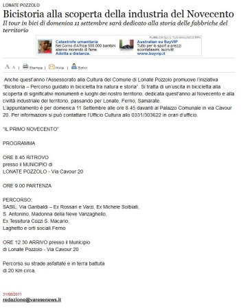 Varesenews del 31 agosto 2011