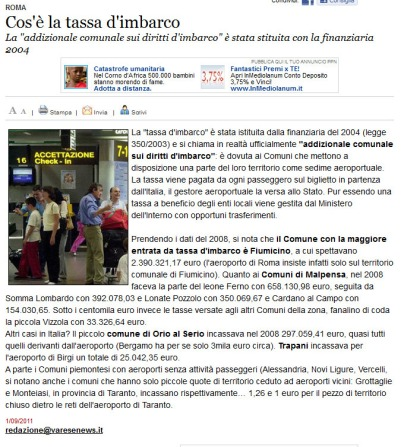 Varesenews del 1° settembre 2011