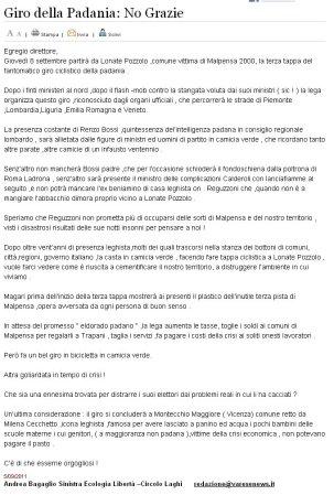 Varesenews del 5 settembre 2011
