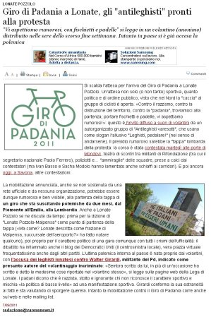 Varesenews del 7 settembre 2011