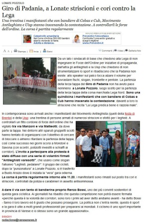 Varesenews del 8 settembre 2011