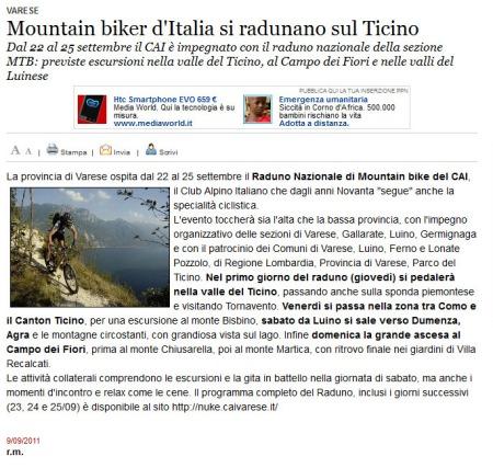 Varesenews del 9 settembre 2011