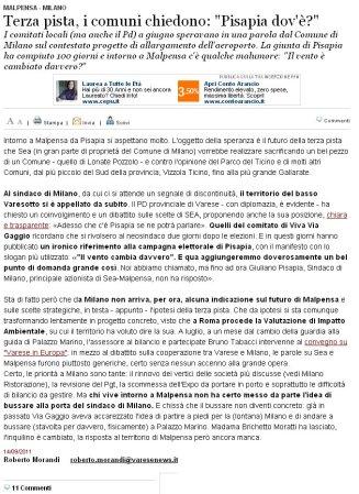 Varesenews del 14 settembre 2011