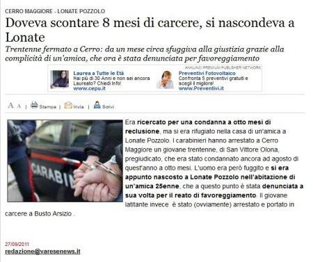 Varesenews del 27 settembre 2011