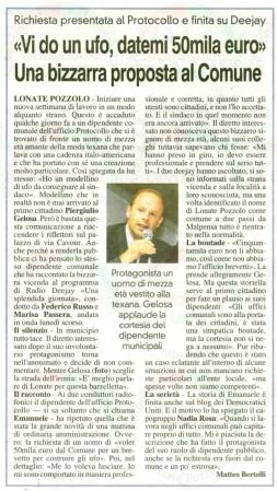 La Prealpina del 29 settembre 2011