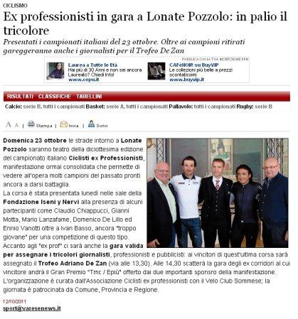Varesenews del 12 ottobre 2011