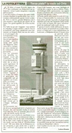 La Prealpina del 1° ottobre 2011