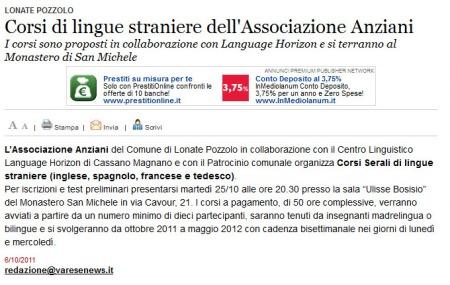 Varesenews del 6 ottobre 2011