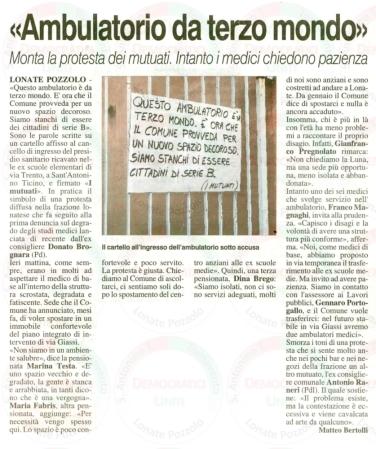 La Prealpina del 14 ottobre 2011