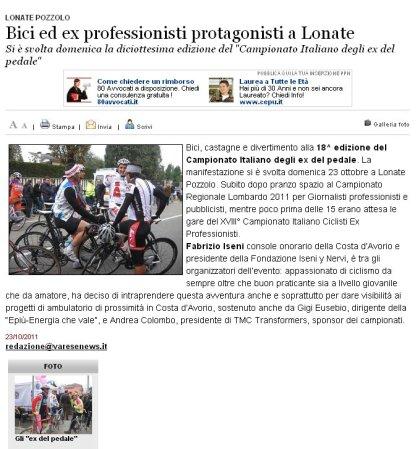 Varesenews del 23 ottobre 2011