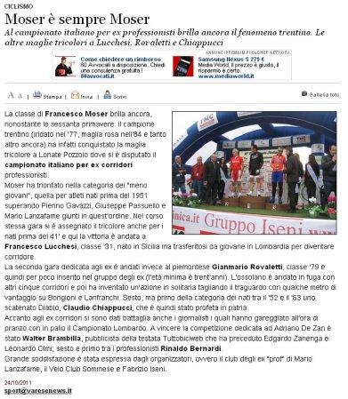 Varesenews del 24 ottobre 2011